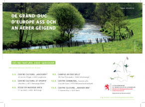 Anonce informations publiques mars 2015- nei Natura 2000 Gebidder
